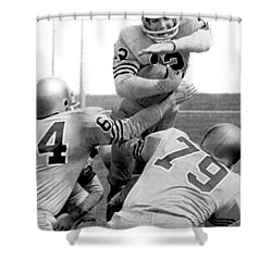 Navy Quarterback Staubach Shower Curtain by Underwood Archives