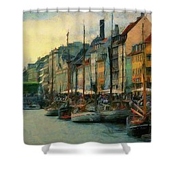 Nayhavn Street Shower Curtain
