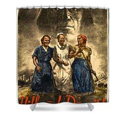 Nazi War Propaganda Poster Shower Curtain by Daniel Hagerman