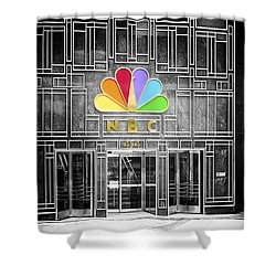Nbc Facade Selective Coloring Shower Curtain by Thomas Woolworth