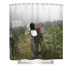 Nc Mailboxes Shower Curtain by Valerie Reeves