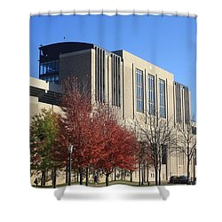 Nd Stadium Shower Curtain by Michael Cressy