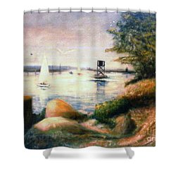 Near Greenwich Shower Curtain
