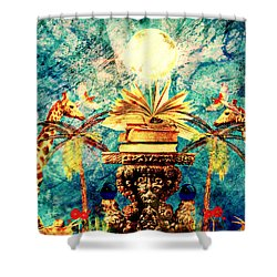 Near Reflections Shower Curtain by Ally  White