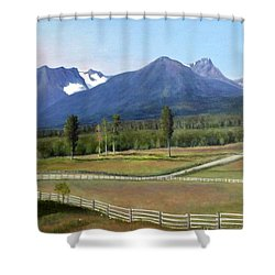 Near Smithers Bc Shower Curtain