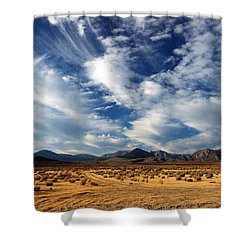 Near The Intersection Of God And The Eastern Sierras Shower Curtain