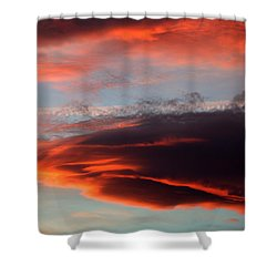 Nearly Red Shower Curtain