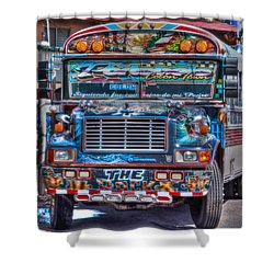 Neat Panamanian Graffiti Bus  Shower Curtain