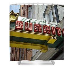 Neato Burrito Shower Curtain