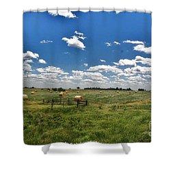 Nebraska Hay Baling Shower Curtain