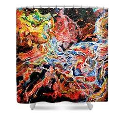 Nebula Shower Curtain by Art by Kar