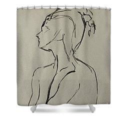 Neckline Shower Curtain by Peter Piatt