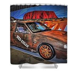Ned Kelly's Car At Ayers Rock Shower Curtain by Kaye Menner