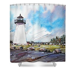 Ned's Point Light Shower Curtain