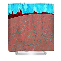 Needles And Dunes Original Painting Shower Curtain by Sol Luckman