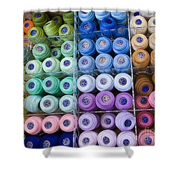 Shower Curtain featuring the photograph Needlework Heaven by Liz  Alderdice