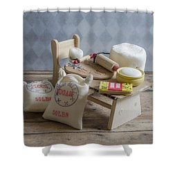 Needs More Sugar Shower Curtain by Heather Applegate