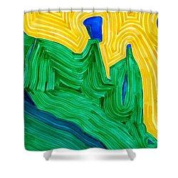 Nefertiti Original Painting Shower Curtain by Sol Luckman