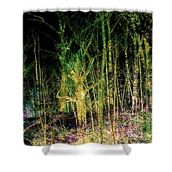 Negative Forest Shower Curtain