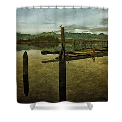 Nehalem Bay Reflections Shower Curtain