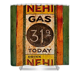 Nehi And Gas Sold Here Shower Curtain by Priscilla Burgers