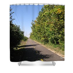 Neighborhood Bicycle And Walking Trail Shower Curtain