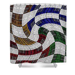 Neighborhood News Shower Curtain by Darla Wood