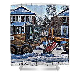 Neighbourhood Snowplough Shower Curtain