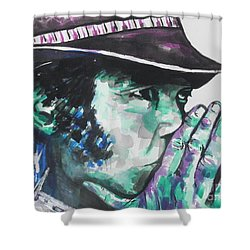 Neil Young Shower Curtain by Chrisann Ellis