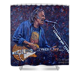 Neil Young Shower Curtain by John Cruse Knotts