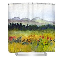 Nek Mountains And Meadows Shower Curtain by Donna Walsh