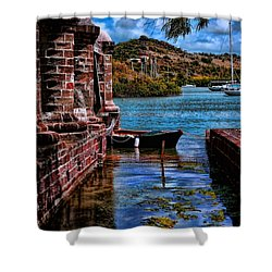 Nelson's Dockyard Antigua Shower Curtain by Tom Prendergast