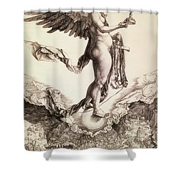 Nemesis Shower Curtain by Albrecht Durer