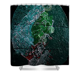 Shower Curtain featuring the painting Nemesis by Gloria Ssali