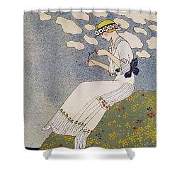 N'en Dites Rien Shower Curtain by Georges Barbier