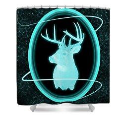 Neon Buck Shower Curtain