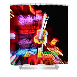 Neon Burst In Downtown Nashville Shower Curtain by Dan Sproul