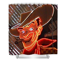 Neon Cowboy Of  Las Vegas Shower Curtain