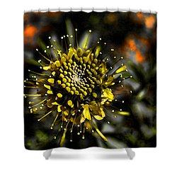 Neon Flower Shower Curtain