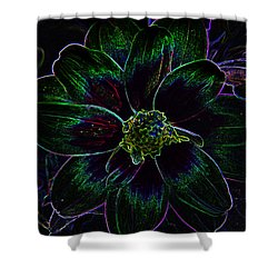 Shower Curtain featuring the photograph Neon Glow by Aimee L Maher Photography and Art Visit ALMGallerydotcom