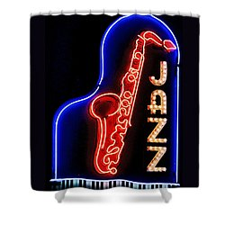 Neon Jazz Shower Curtain
