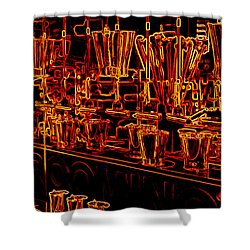 Shower Curtain featuring the photograph Neon by Kathy Bassett