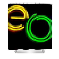 Neon Shower Curtain by Kelly Awad