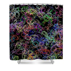 Neon Number Haze... Shower Curtain
