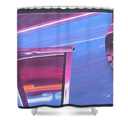 Neon Reflections IIi Shower Curtain
