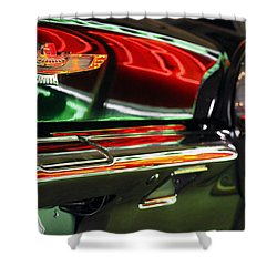 Shower Curtain featuring the photograph Neon Reflections by Shoal Hollingsworth