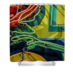 Neon Rose Shower Curtain