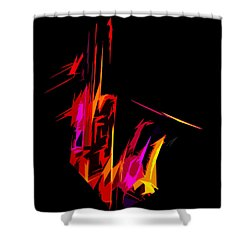 Neon Sax Shower Curtain