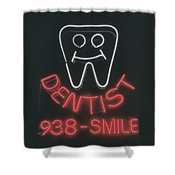 Neon Smile Shower Curtain