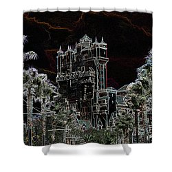 Neon Tower Shower Curtain by Eric Liller